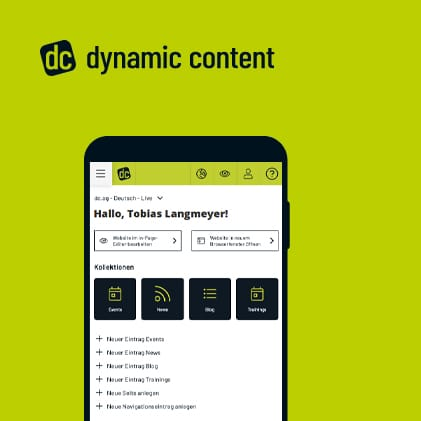 CMS Software dynamic content